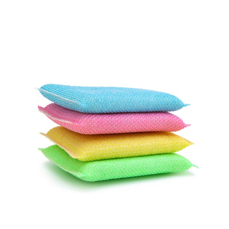 DH-A2-13 Colorful kitchen scrubber dish cloth washing sponges