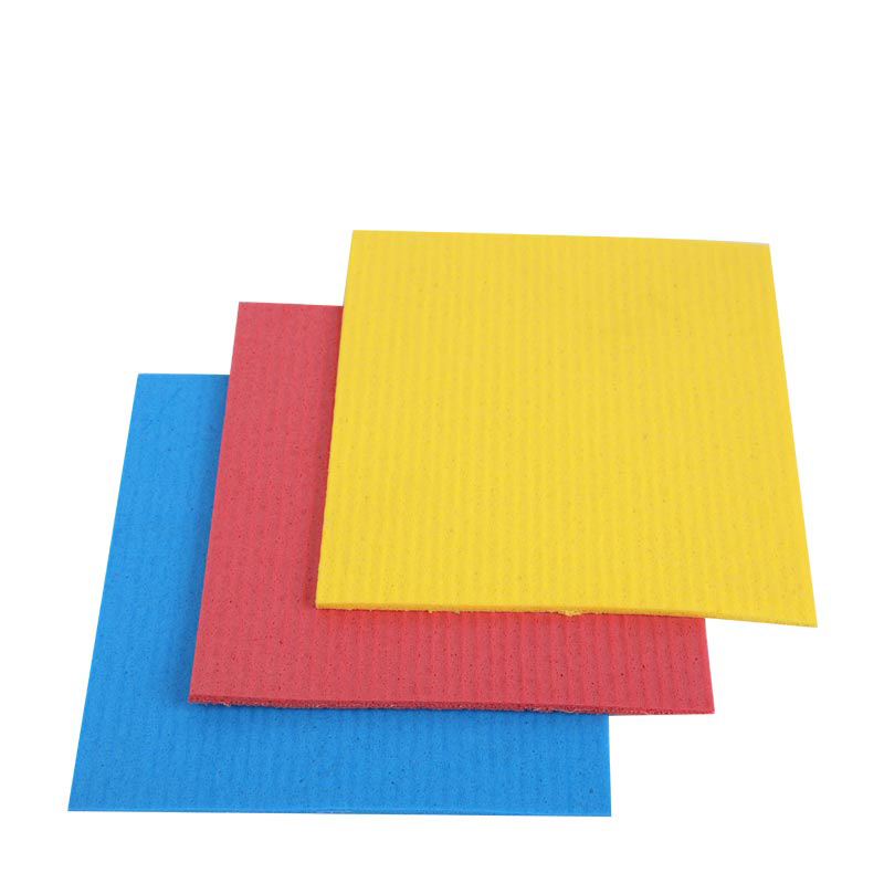 DH-A5-16 kitchen cleaning microfiber cellulose polyurethane sponge cloth disposable microfiber cloths