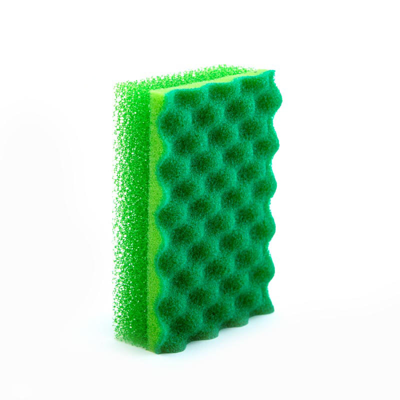 DH-A1-46 wave heavy duty scrub sponge Kitchen cleaning sponge Coating Sponge