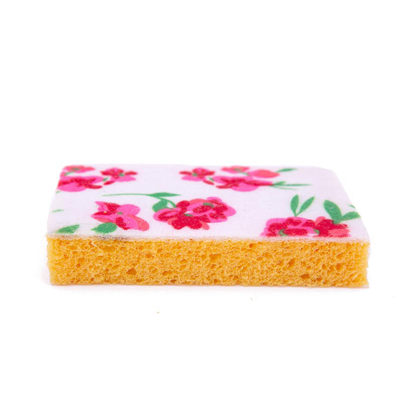 DH-A5-10 Printed kitchen cleaning cellulose sponge wipe