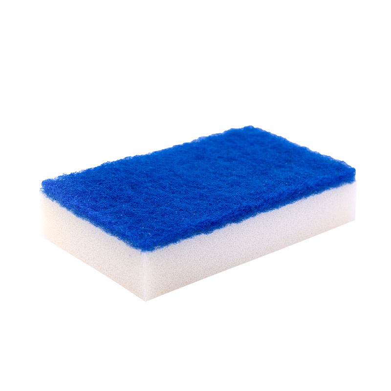 DH-A1-4 eco friendly kitchen cleaning sponge with polyester scouring pad
