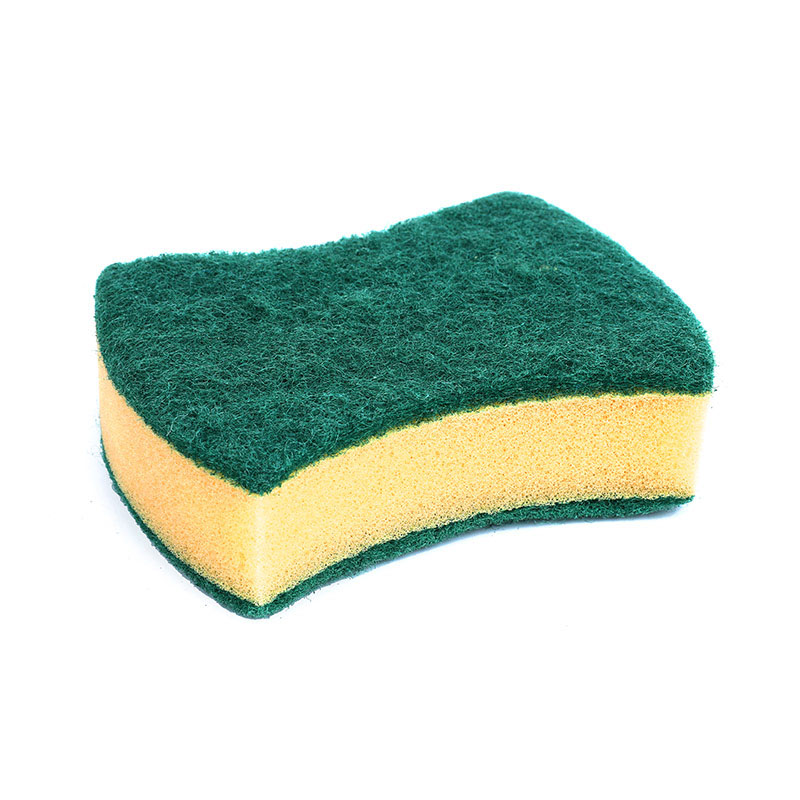 DH-A1-20  kitchen cleaning sponge with double polyester scouring pad