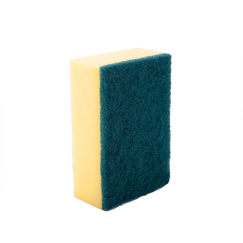 DH-A1-21  rectangle eco friendly kitchen cleaning sanding sponge scourer for kitchen