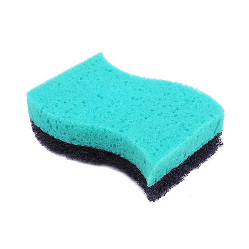 DH-A1-3 Sponge Kitchen Scourer Abrasive Fibre Nonwoven Dish Cleaning Pad For Kitchen