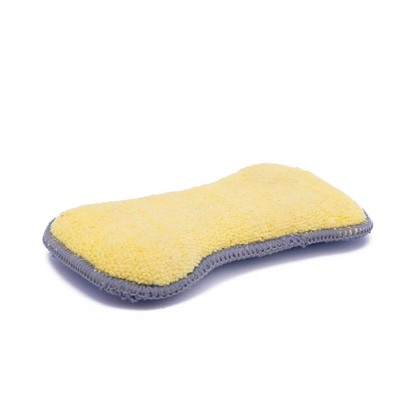 DH-A4-11 cleaning polishing coral fleece 2 sided car wash sponges