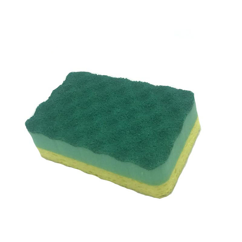 DH-A5-21 Multi-layer composite high-efficiency clean coated cellulose kitchen sponge