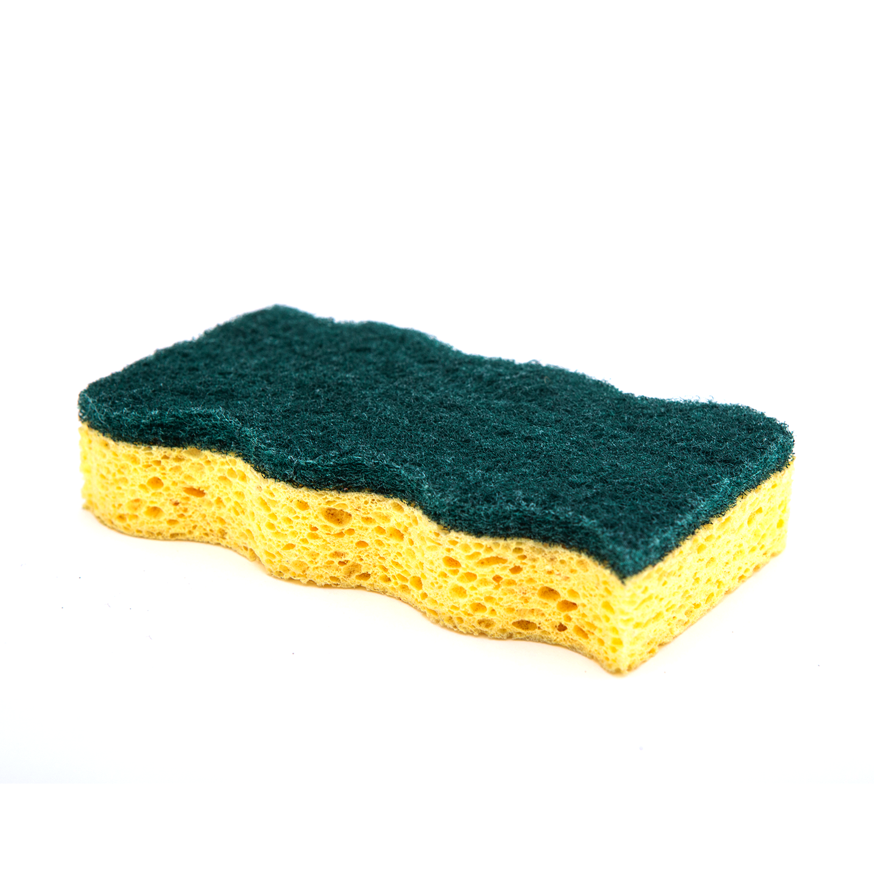 DH-A5-3 High quality cellulose sponge kitchen cleaning sponge with scouring pad