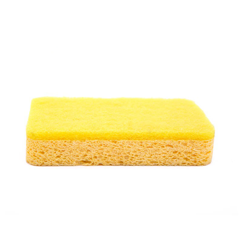DH-A5-7 custom kitchen dish cloth celulose sponge with scouring pad