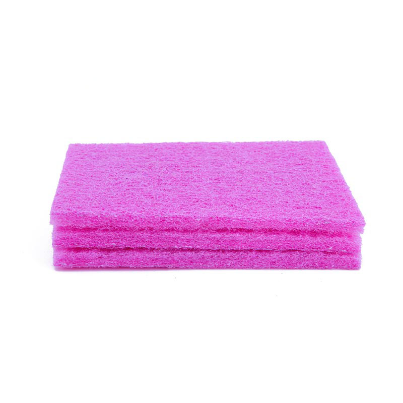 DH-C2-8 Pink Eco-friendly Nylon Household Cleaning Scouring Pads